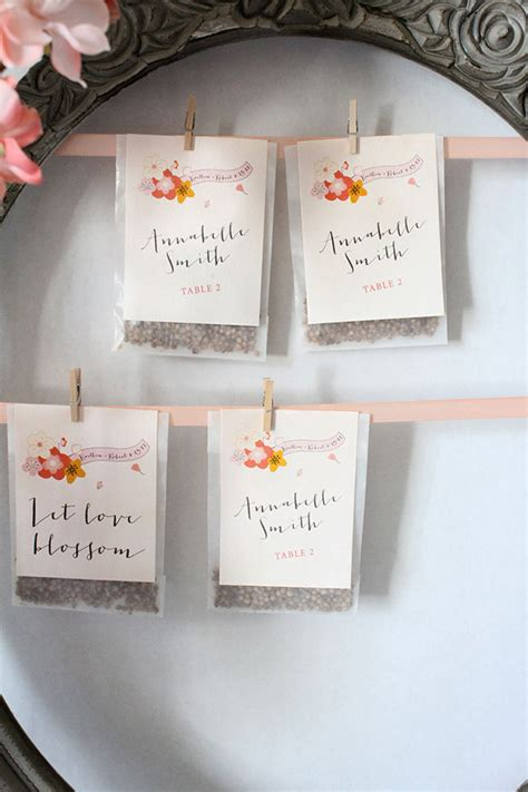 an organic touch 13 diy escort cards from nature
