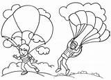 Parachute Coloring Landing Pages Favourite Children Fun sketch template