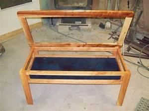 natural cherry display coffee shadowbox table showcase With natural cherry coffee table