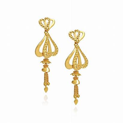 Earrings Gold Stylish Cinderella Grt Jewellers Collections