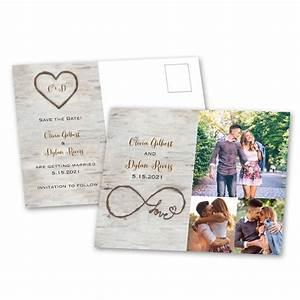 Birch Beauty Save the Date Postcard Ann's Bridal Bargains