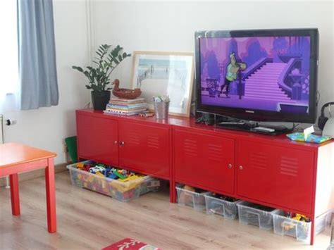 Ikea Ps Cabinet As Tv Stand In Playroom