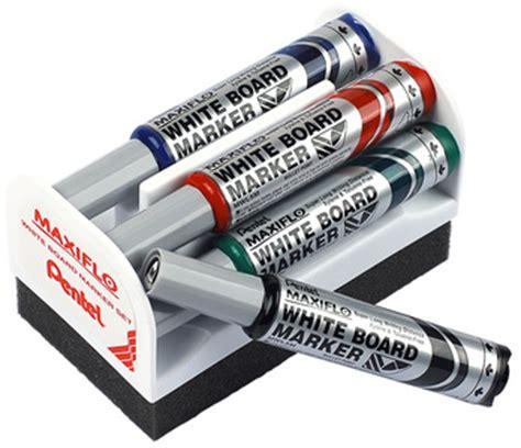 pentel whiteboard marker set maxiflo mwl5s mit schwamm