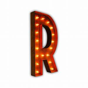 Rusty 36 inch letter r marquee light by vintage marquee lights for 36 marquee letters