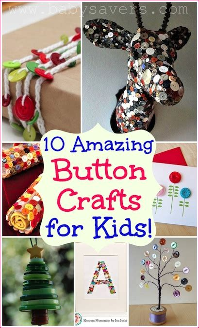 button crafts  kids     craft projects