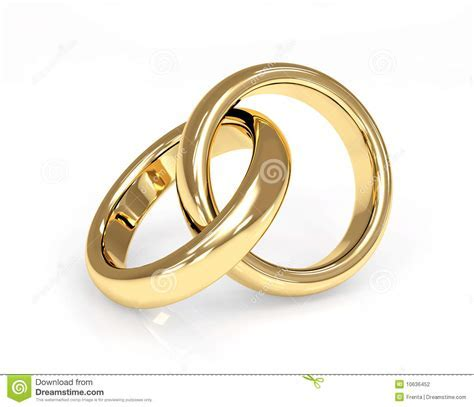 Two 3d Gold Wedding Ring Stock Photography   Image: 10636452