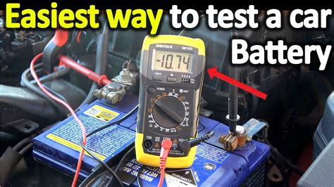 test  car battery   multimeter voltage cold cranking amps youtube