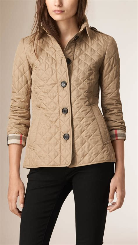 burberry quilted jacket burberry quilted jacket canvas in brown canvas