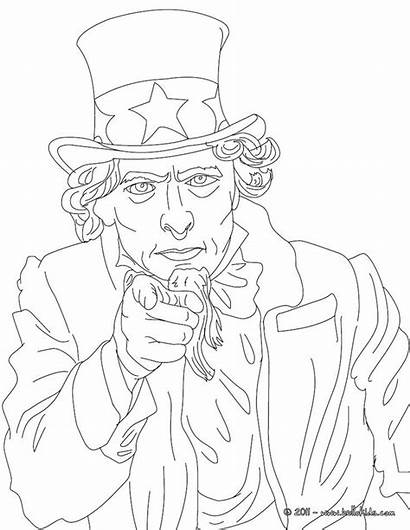 Uncle Sam Coloring Pages Drawing Houston Printable