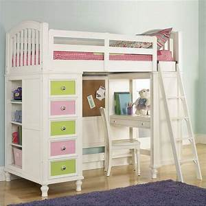 full size loft bed with desk study desk combined the With girly bunk beds for kids and teenagers