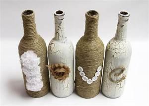 DIY Wine Bottle LOVE Craft