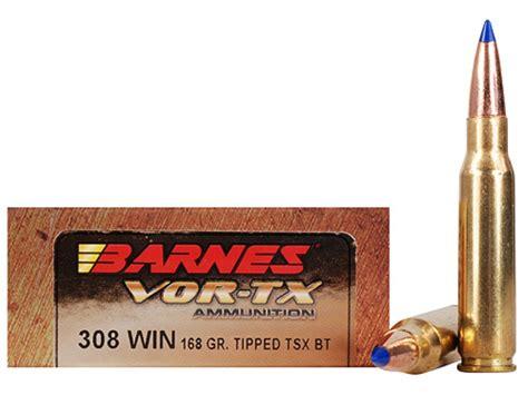 Barnes Vor-tx Ammo 308 Winchester 168 Grain Tipped
