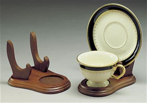 cup  saucer holders wood elevated tea cup  plate