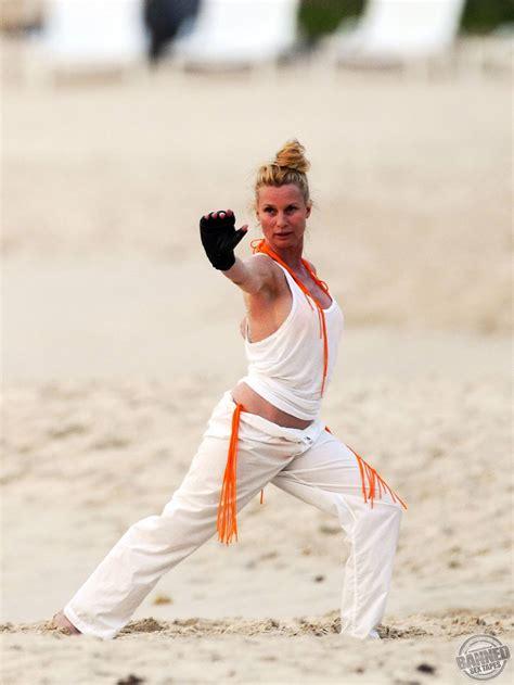 Nicollette Sheridan Caught Training In Wet Bikini On A Beach Tattoos For Girls