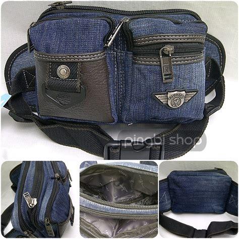 jual polo hoby tas pinggang bahan denim merk berkualitas banyak kantong dijamin original di