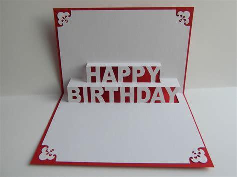 pop up karten pop up karte herzl gl 252 ckwunsch happy birthday ein designerst 252 ck