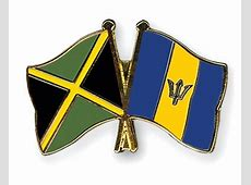 Crossed Flag Pins JamaicaBarbados Flags