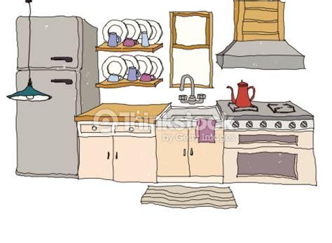 clipart cuisine gratuit la vue sur la cuisine clipart vectoriel thinkstock
