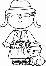 Coloring Detective Pages Little Cat Spy Boy Crafts Clip Nice Bible Wecoloringpage Boys sketch template