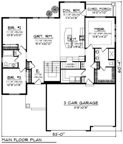 a house floor plan baby nursery ranch style bungalow floor plans simple