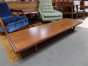 mid century modern ultra long low walnut coffee table With ultra low coffee table