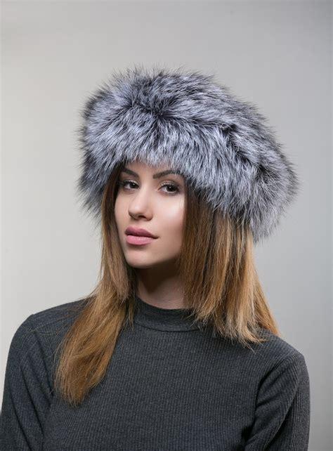 Silver Fox Fur Head Band - Haute Acorn