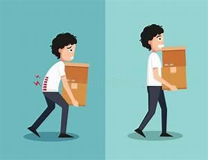 Man Lifting Heavy Box Stock Illustrations  U2013 387 Man