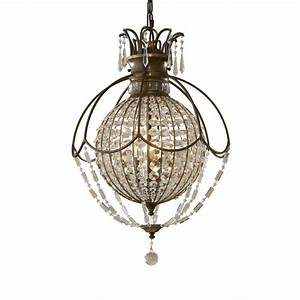 Bellini large globe shaped chandelier antique bronze