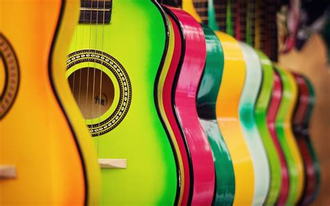 Guitar Wallpapers For Laptop Colorful Guitar Hd Music 4k Wallpapers Images Backgrounds Photos And Pictures