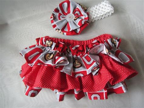 osu colors osu colors ruffle bloomers with matching headband set