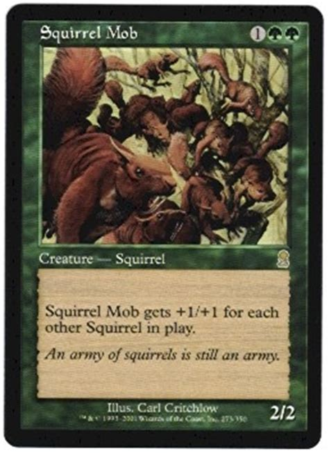 squirrel deck mtg 2015 mtg odyssey single squirrel mob foil ebay