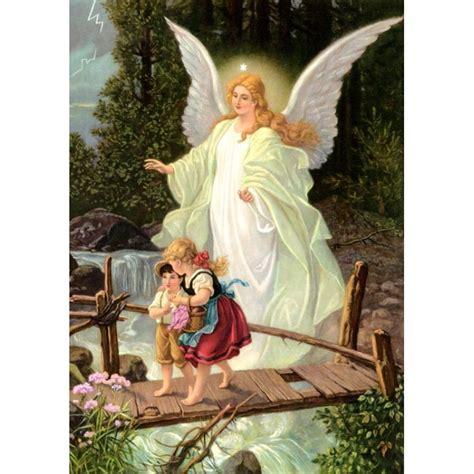 schutzengel motiv engel wacht ueber kinder auf der bruecke