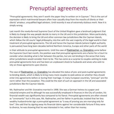 prenuptial agreement 9 sle prenuptial agreements sle templates