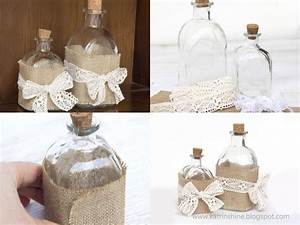 Shabby Chic Diy : decorate bottle in shabby chic diy diy masters ~ Frokenaadalensverden.com Haus und Dekorationen