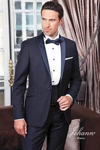 johann smoking de mariage bleu nuit avec gilet With quelle couleur avec bleu marine 19 costume 3 piaces homme gris