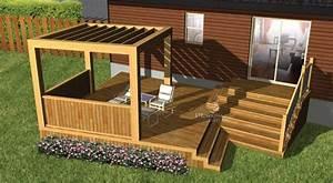 Construire Pergola Bois : planimage cette terrasse en bois au design pur est construite sur deux paliers le ~ Preciouscoupons.com Idées de Décoration