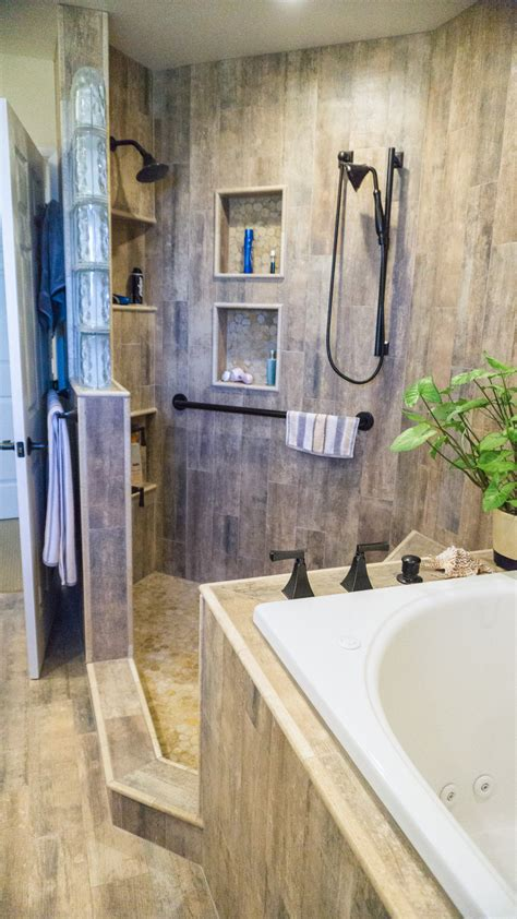 earthy wood glass master bath danilo nesovic designer