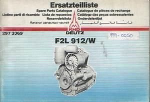 Deutz Engine F2l 912 W Parts Manual