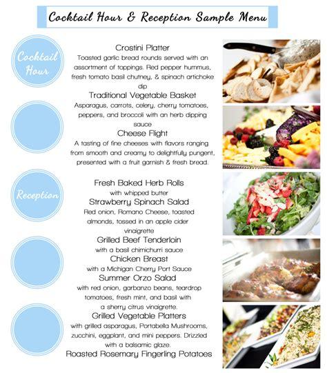 wedding menus christians cateringchristians catering