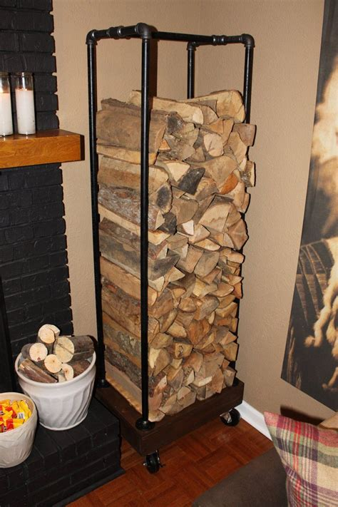 diy plumbing pipe log holder diy pinterest log