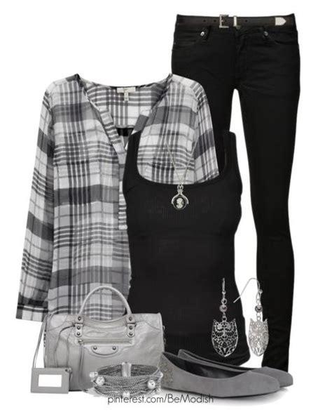 monochrome black  grey casual outfit idea  modish