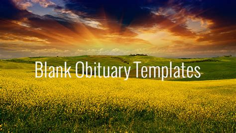 blank obituary templates    premium