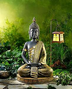garten buddha 80 cm jetzt bei weltbildde bestellen With französischer balkon mit buddha figur garten 100 cm