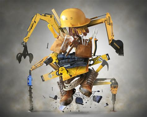 bionic construction workers  enter job sites
