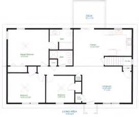 Harmonious Single Level Home Floor Plans by Simple One Floor House Plans Ranch Home Plans House