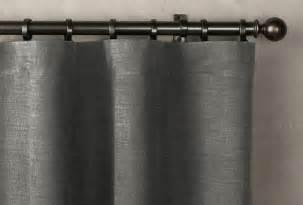 belgian brushed linen cotton drapery rod pocket remodelista