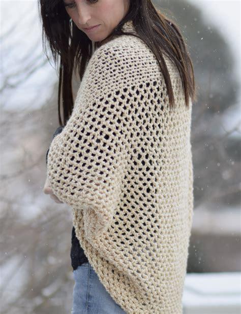 easy crochet sweater mod mesh honey blanket sweater in a stitch