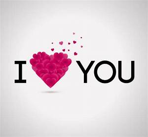 I love you, word art design vector material_Download free ...