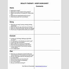 Reality Therapy Wdep Worksheet Comments Wants What Do You Want  Coaching Pinterest