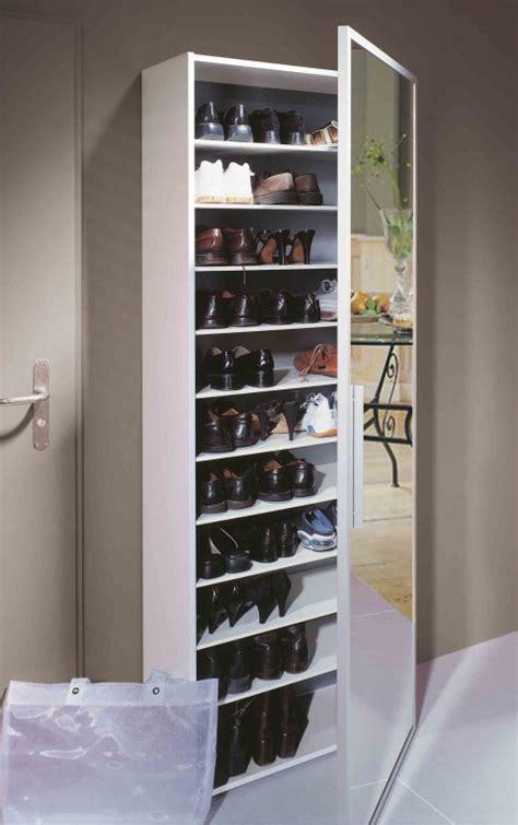 petit meuble cuisine conforama functio armoire à chaussures avec miroir large blanc